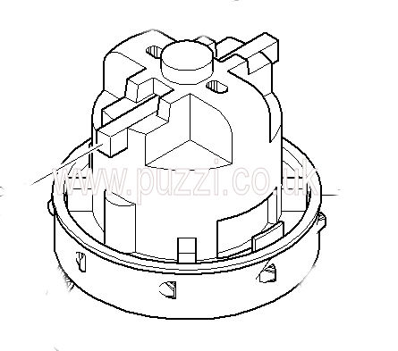 karcher puzzi 8 1c vacuum motor originalk replacement karcher spare part. Black Bedroom Furniture Sets. Home Design Ideas